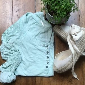 FP Lace Sleeved Top